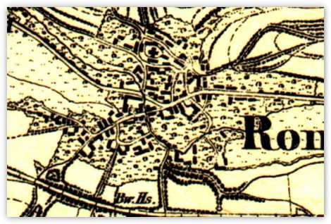Alte Karte von Ronshausen